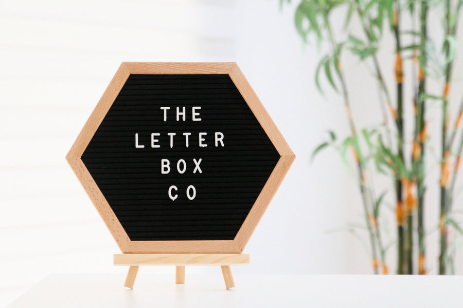 A rare kind of its own, for all hexagon lovers:  The 12 x 12 inch hexagon felt letter board in oak frame and black felt.  This board is best suited for home or room decor, or as a surprise gift for a loved one!