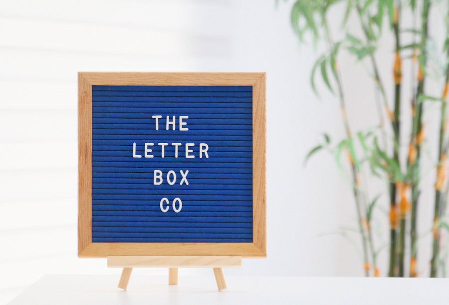 THE CLASSIC SERIES  Featuring the classic 10 x 10 inch felt board in oak frame and royal blue felt.  This board is best suited for home or room decor, or as a surprise gift for a loved one!