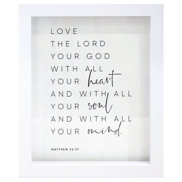 The Greatest Commandment Rectangle Glass Frame