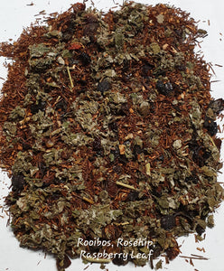 Herbal Tea Blend Organic - Rooibos, Rosehip and Raspberry Leaf