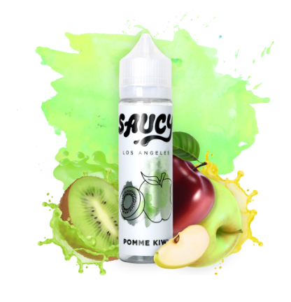 Pomme Kiwi by Saucy 60 ml