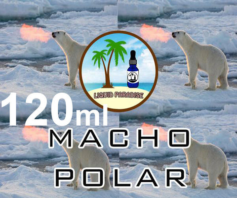 JUMBO 120ml Macho Polar - LIQUID PARADISE PREMIUM ELIQUID (tropical breeze v2)