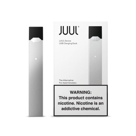 SILVER JUUL DEVICE Salt Nic Device