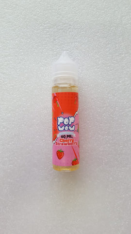 Cherry Strawberry Pop Wow Sour Lollipops 60ml