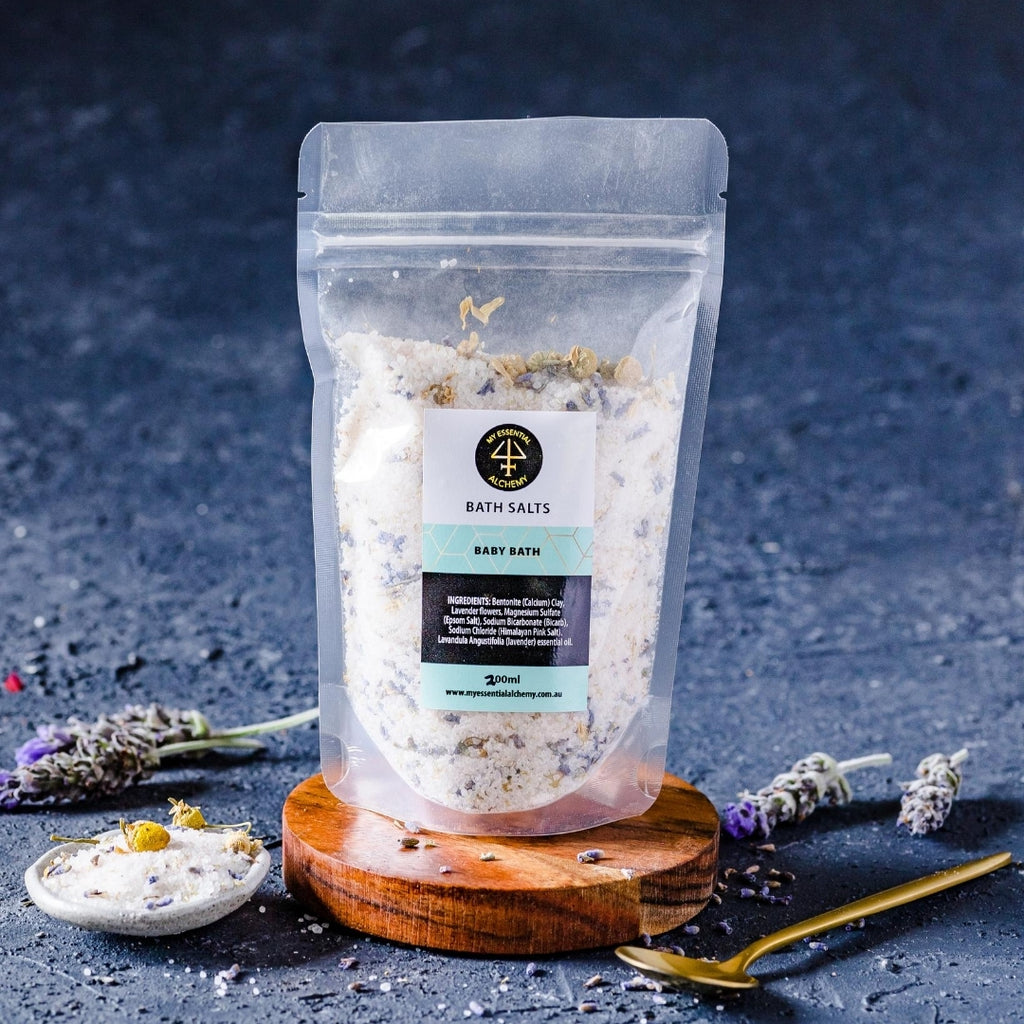 Calming natural bath salts for kids