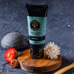 Facial cream cleanser charcoal exfoliant