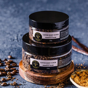 luxurious coffee body scrub