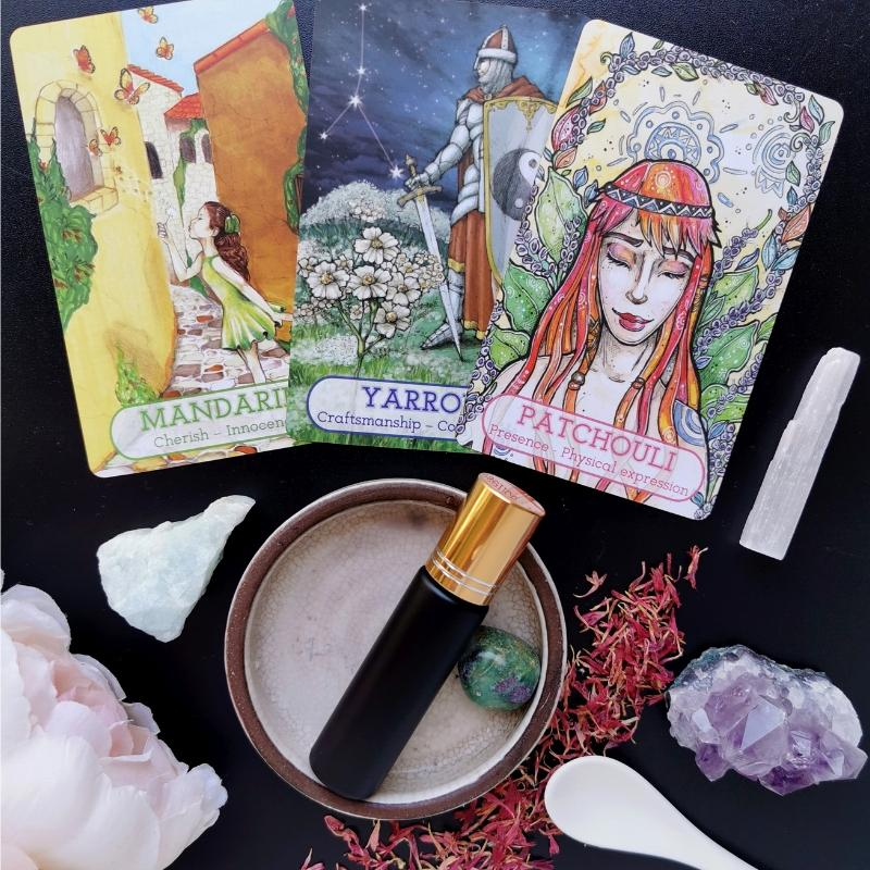 essential oil card reading with personalised elixir blend