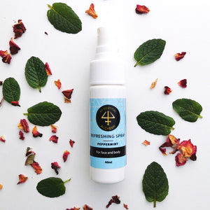 peppermint essential oil spritzer