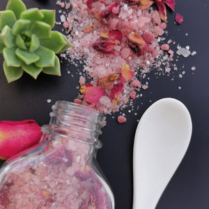 rose bath salts gift idea