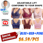 *2019 Hot Selling TV Products* Extra-elastic Air Permeable Lace Bra Promotion (3pcs/set)