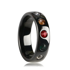 7 Chakra Crystal Ceramic Ring - MMMY store