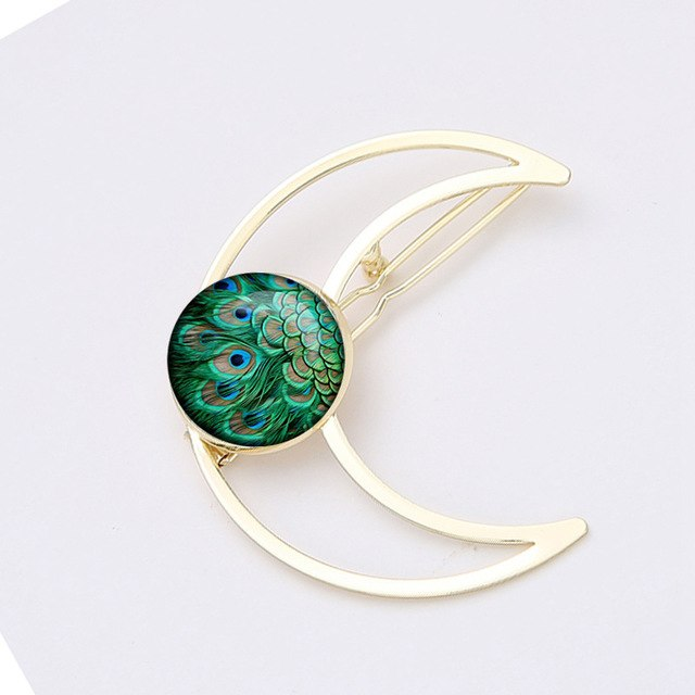 Henna Yoga Moon Hair Clip For Women - MMMY store