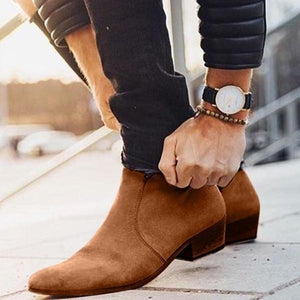 Chelsea Suede Leather Side Zipper Stockholm Boot