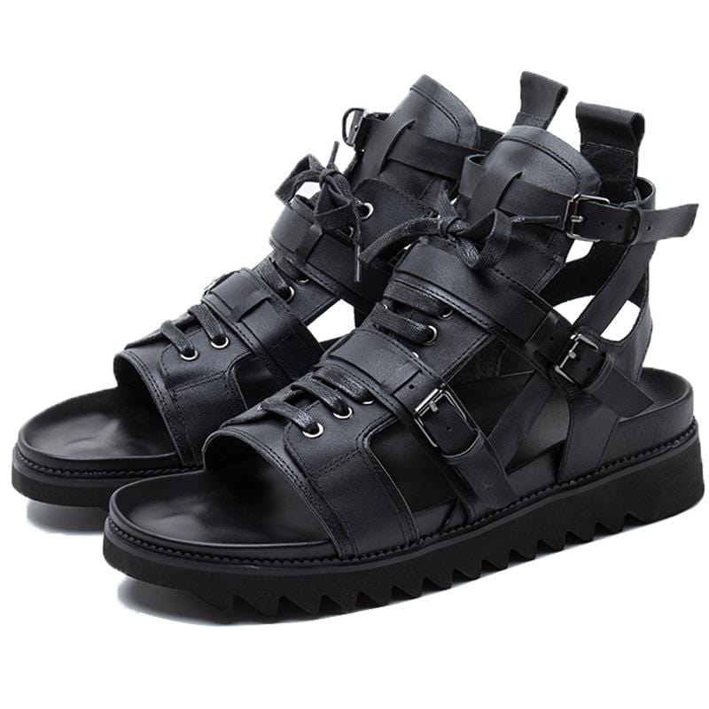 Summer new men's leather sports sandals