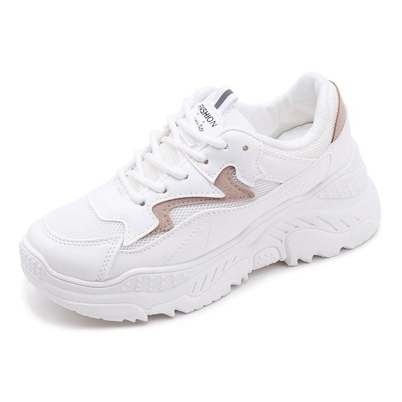 Retro platform women's breathable mesh sneakers
