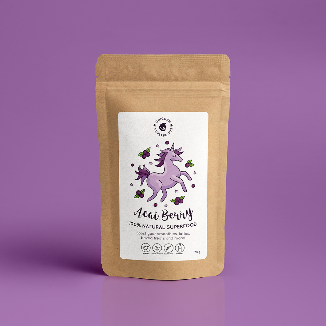 UNICORN SUPERFOODS - 100% NATURAL ACAI BERRY POWDER