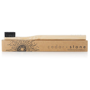 CEDAR + STONE - BAMBOO CHARCOAL TOOTHBRUSH