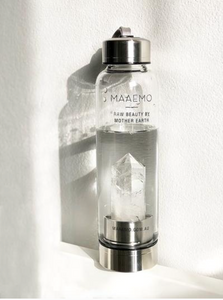 MAAEMO - CRYSTAL INFUSED WATER BOTTLE - CLEAR QUARTZ