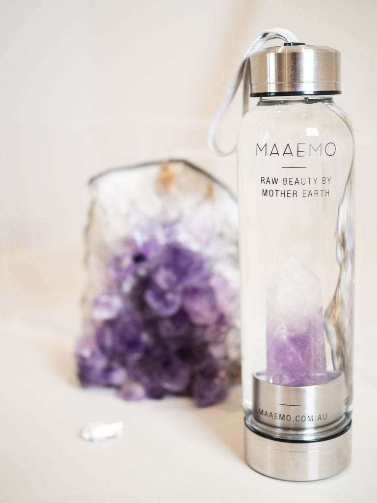 MAAEMO - CRYSTAL INFUSED WATER BOTTLE - AMETHYST