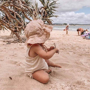 OAK MEADOW KIDS - PEACHY CREME SUN HAT