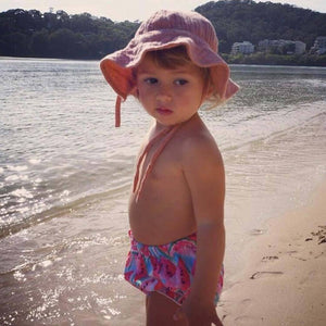 OAK MEADOW KIDS - 'MAGIC ISLE' - TERRACOTTA ROSE SUN HAT