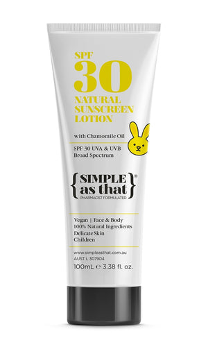 SIMPLE AS THAT - 100% NATURAL CHILDRENS SUNSCREEN SPF 30