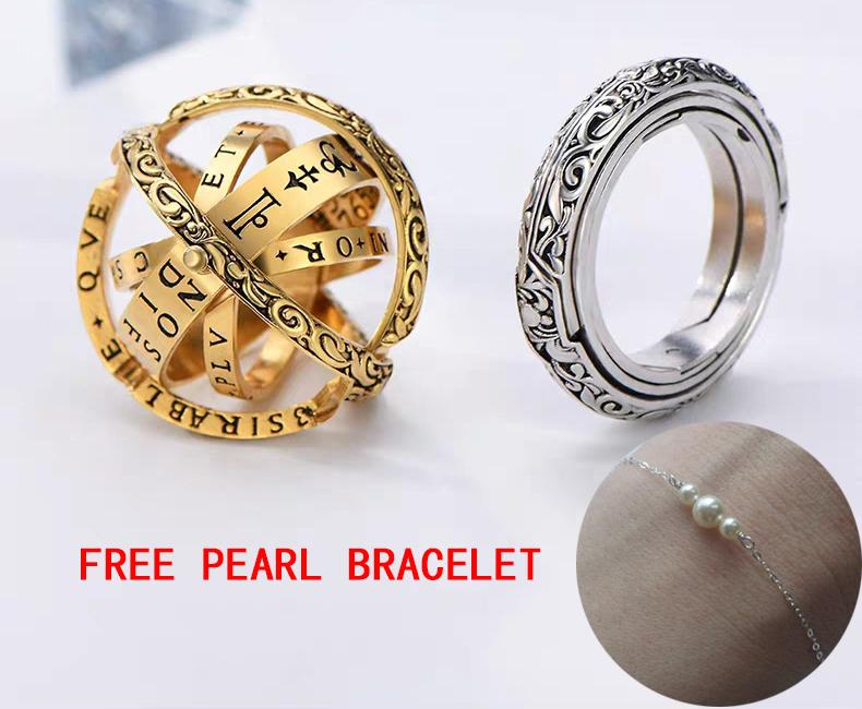 Astronomical ring-Closing is love,Opening is the world(Buy 1 Get Free Pearl sterling silver bracelet)