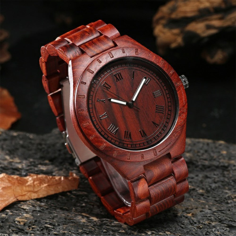 (Limited time offer)Men's natural handmade luxury business wooden watch