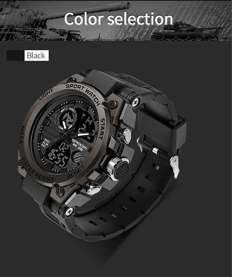 (Low price promotion) trend multi-function sports waterproof and dustproof electronic watch