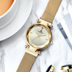 (Limited Time Offer)Flower glass mesh belt ladies watch