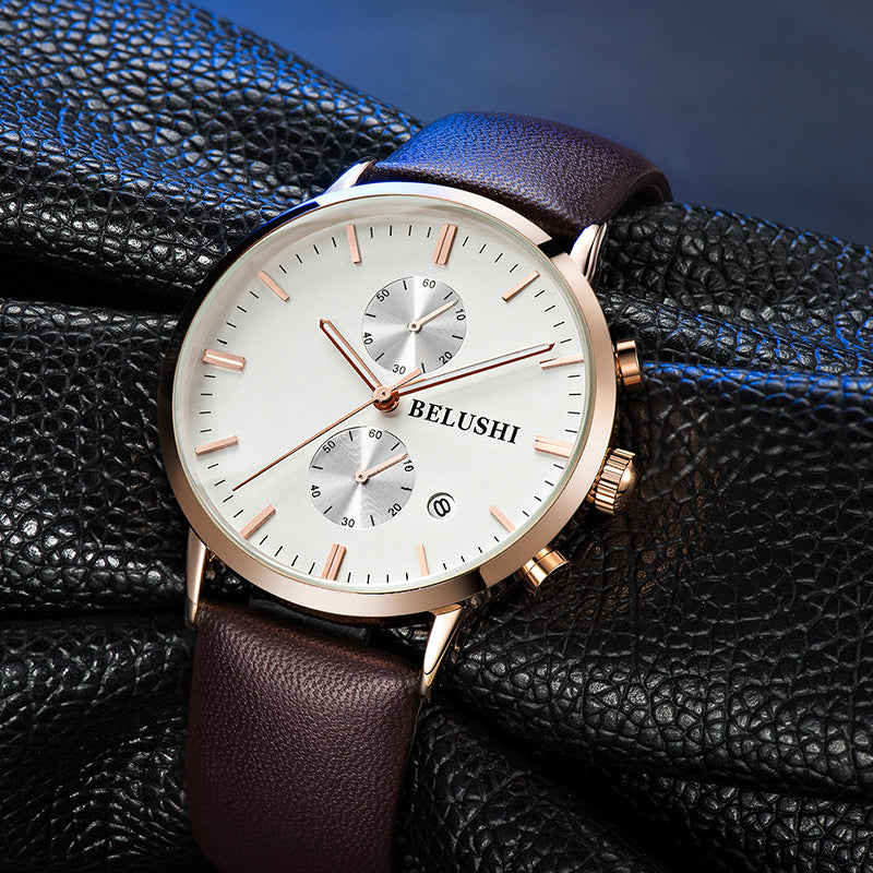 (Limited time offer)Classic business retro design leather quartz watch