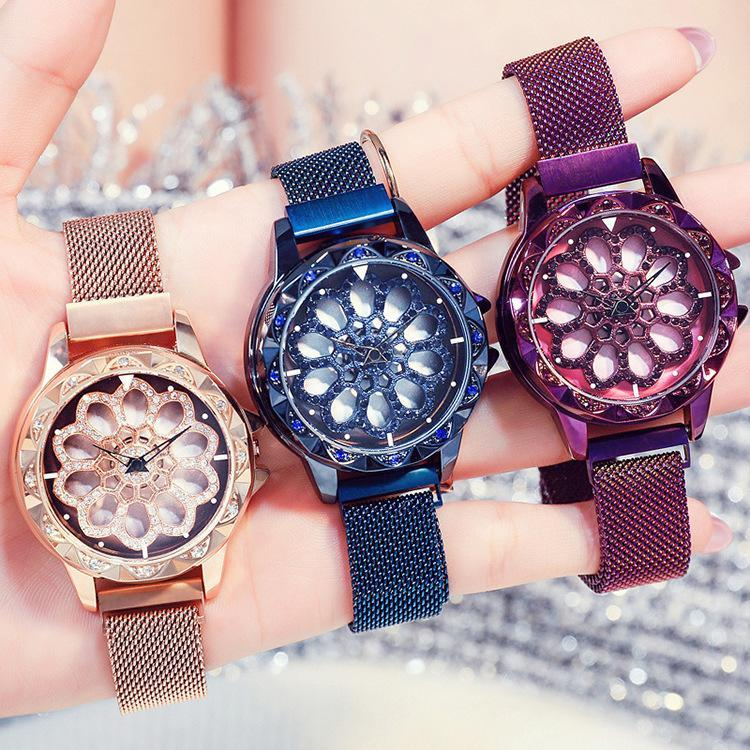 30% OFF TODAY-Romantic Rotary Lucky Watch With Magnetic Wristband
