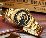 [50%OFF]Limited Sale(sell at a low price)Golden luxury waterproof fashion watch