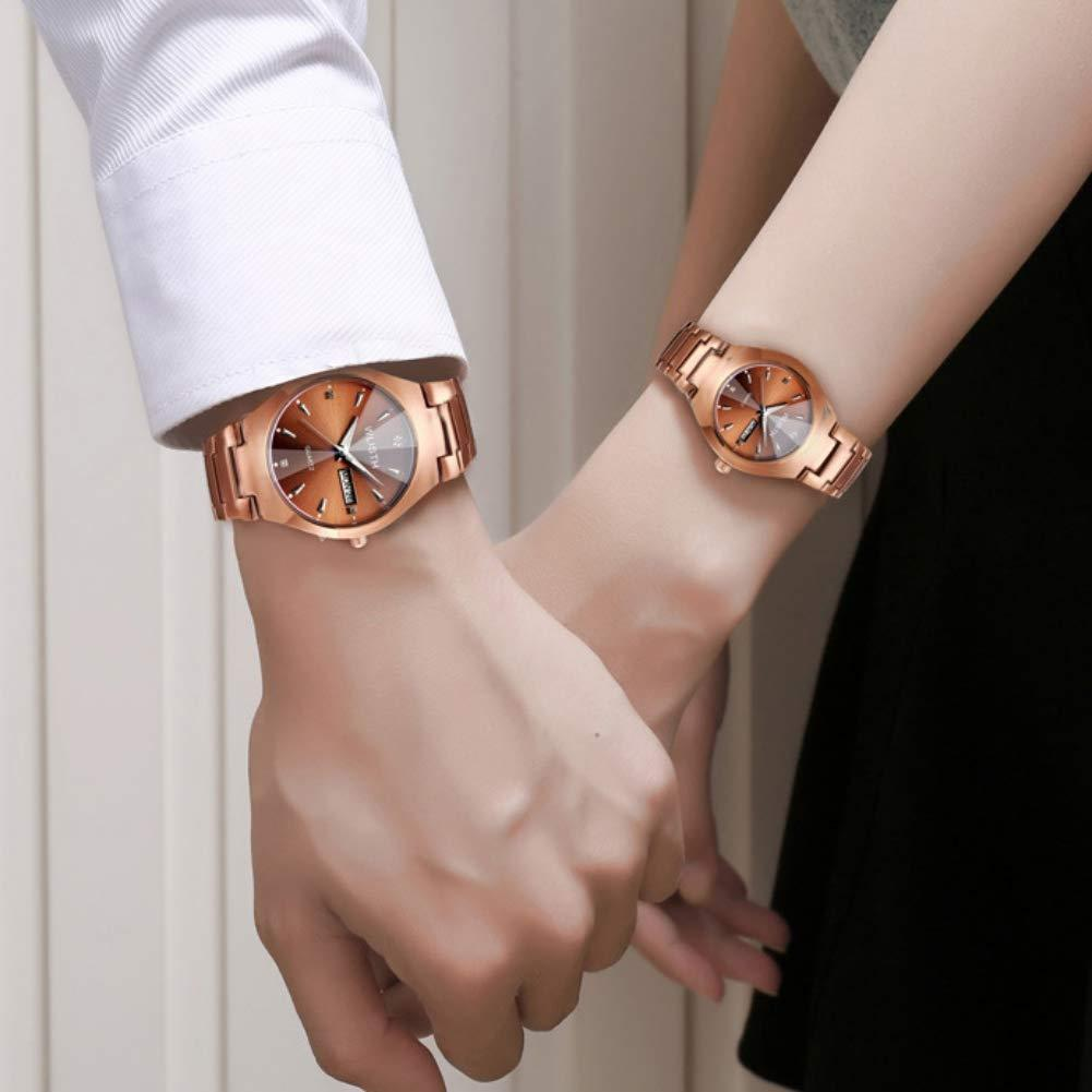 【70%OFF】(Last day promotion)Couple Luxury  luminous waterproof watch business casual design