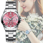 Holiday gift(Limited time offer)Women's fashion luxury Rhinestone simple quartz watch
