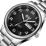 (Limited time offer)Men's Watch Luxury Full Steel Watches Fashion Quartz Wristwatch
