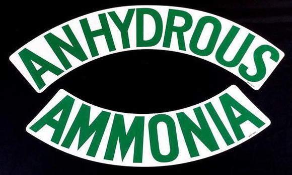 Anhydrous Ammonia/Nh3 Decals