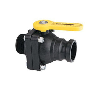 "Banjo 2"" Full Port Stubby Ball Valve with 2"" Male Adapter x 2"" Female NPT-Mid-South Ag. Equipment"