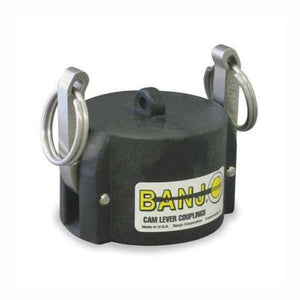 "Banjo Poly Cam Lever Coupling 2"" Dust Cap with Short Arms for Male Adapter-Mid-South Ag. Equipment"