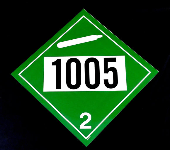 Decal - 1005 - Black & White on Green - NH3 Safety Decal-Mid-South Ag. Equipment
