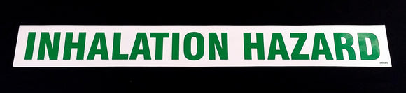 Decal - INHALATION HAZARD - Green on White - NH3 Safety Decal-Mid-South Ag. Equipment