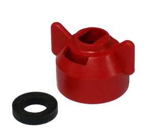 Hypro - CAP00-04 - Standard Cap with Gasket - Red-Mid-South Ag. Equipment