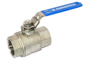 "Norwesco 60484 - 1-1/4"" Full Port Stainless Steel Ball Valve-Mid-South Ag. Equipment"