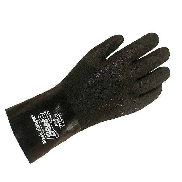 Showa Best 7712R-10 - Black Knight PVC Glove-Mid-South Ag. Equipment