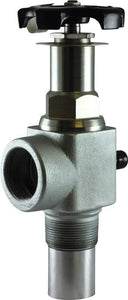 "Squibb-Taylor A484N-45 - NH3 Liquid Withdrawal Valve -1-1/4"" MPT X 1-1/4"" FPT with Hydrostatic Relief Valve-Mid-South Ag. Equipment"