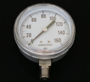 "Valley Industries - 2-1/2"" - 160 P.S.I. Stainless Steel Nh3 Pressure Gauge - 2180DSX160-Mid-South Ag. Equipment"