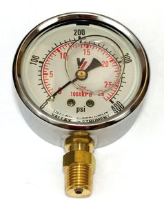 "Valley Industries - 2-1/2"" - 400 P.S.I. Liquid Filled Pressure Gauge - 2140GXB400-Mid-South Ag. Equipment"