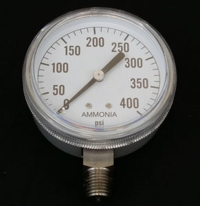 "Valley Industries - 2-1/2"" - 400 P.S.I. Stainless Steel Nh3 Pressure Gauge - 2180DSX400-Mid-South Ag. Equipment"
