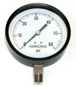 "Valley Industries - 4"" - 60 P.S.I. Stainless Steel Nh3 Pressure Gauge - 4180DSX60-Mid-South Ag. Equipment"